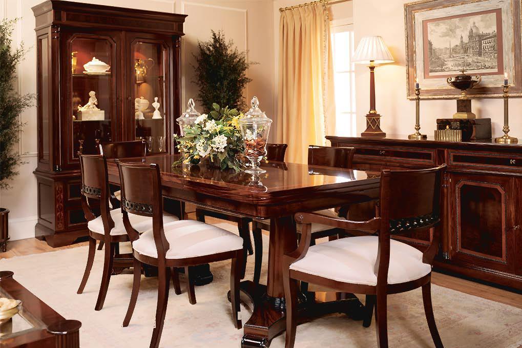 Comedor madera maciza for Muebles clasicos en lucena