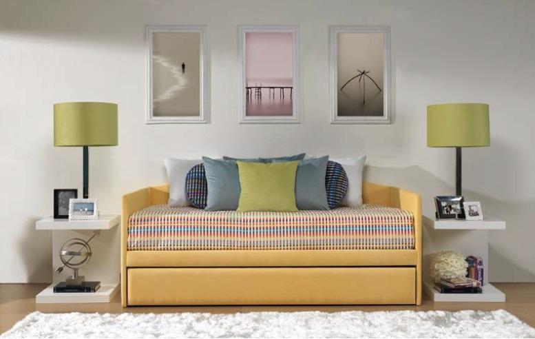 Dormitorio juvenil cama amarilla - Dormitorio juvenil malaga ...