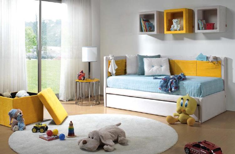 Dormitorio cama gris - Dormitorios infantiles malaga ...